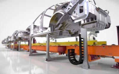 LEANTECHNIK – Hub-Senk-Förderer für die Montage
