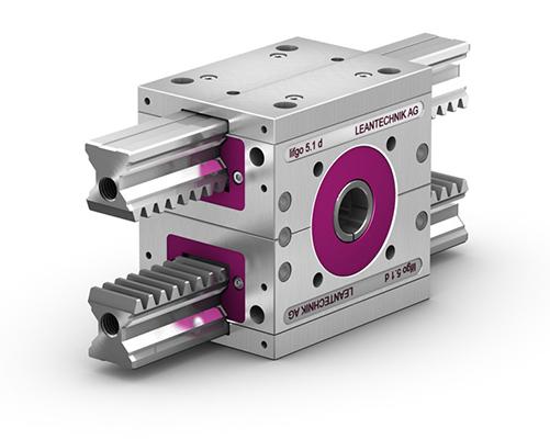 lifgo® doppel – Präzisionsgetriebe für das Greifen, Zentrieren und Schließen