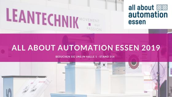 LEANTECHNIK – all about automation Essen 2019