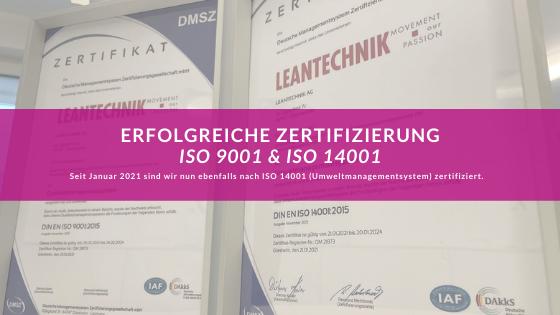 Zertifizierung nach ISO 9001 und ISO 14001